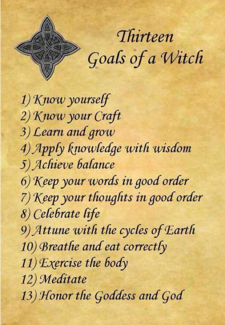 Blog 13 Goals Of A Witch